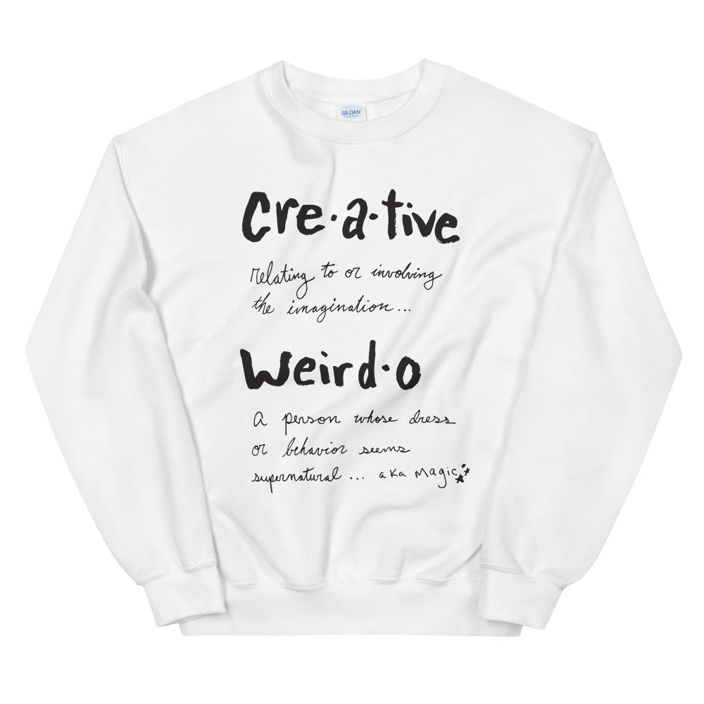 Unisex Creative Weirdo Definition Sweatshirt