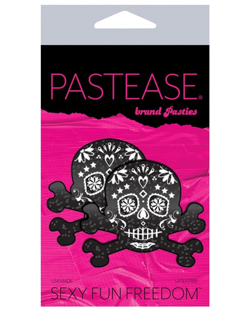 Pastease Day of the Dead Skull - Black/White O/S