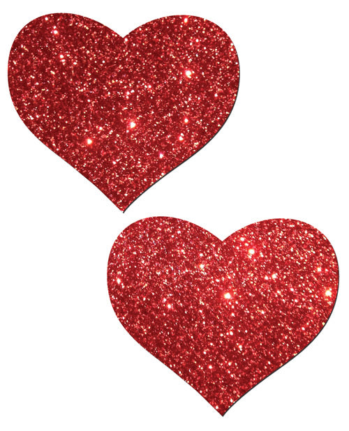 Pastease Glitter Heart - Red O/S