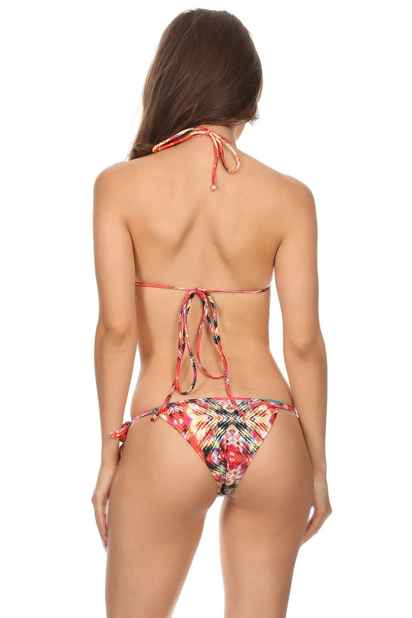 Multi-color tribal print bikini cheeky bottoms