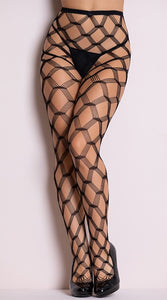 Hardcore Double Diamond Net Pantyhose