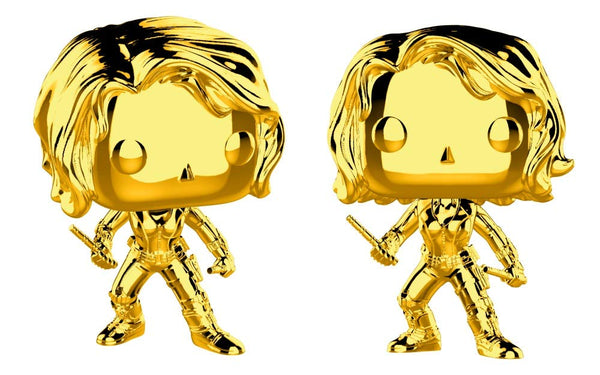 Funko Pop Marvel Endgame : Gold Black Widow (Gold Chrome)#380