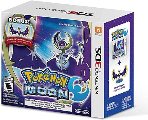 Pokemon Moon with Lunala Figure - Special Limited Edition 3DS
