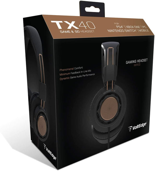 TX40 Game & Go - Headset for PC, Xbox One, Playstation 4