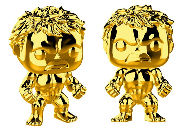 Funko Pop Marvel Endgame :  Gold Hulk (Gold Chrome) #379