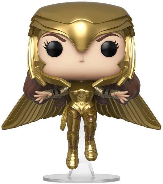 Funko Pop! Movies: Wonder Woman 1984 - Wonder Woman Gold Flying (Metallic), Multicolor #324