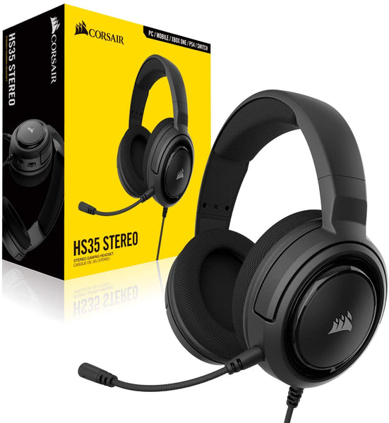 Audifonos Corsair HS35 Stereo Gaming Headset, CARBON PC / Mobile / Xbox one / PS4 / Switch