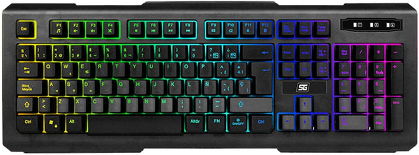 KIT VORAGO  KMH-501 TECLADO, MOUSE, HEADSET, TAPETE LUZ