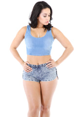Sammy Denim Crop Top