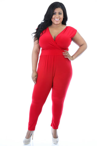 Lisa Laced Back Jumpsuit (Red)