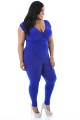 Lisa Laced Back Jumpsuit (Blue)