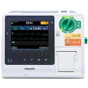 Philips HeartStart XL+ Defibrillator Monitor for use in hospital and electrosurgical settings, refurbished