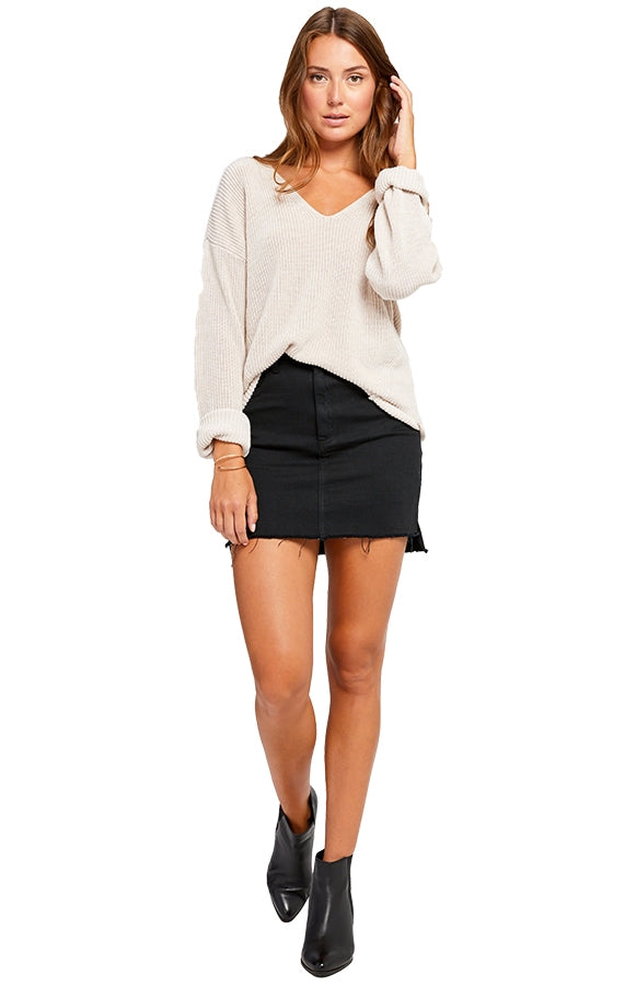 Gentle Fawn Women's Tucker Sweater Heather Oatmeal