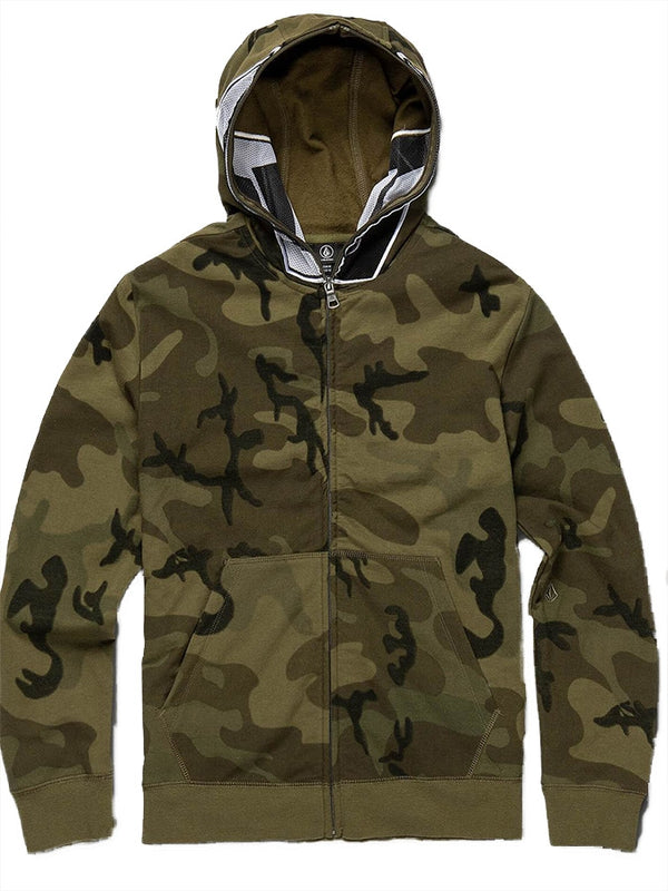 Volcom Youth Cool Stone Full Zip Camo