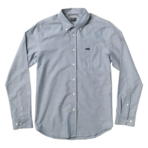 Rvca Youth That'll Do L/S Oxford Blue