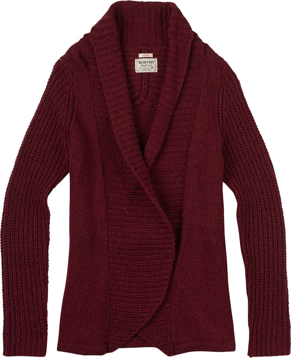 Burton Women's Adele Cardi Sangria Heather