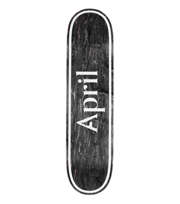 April OG Logo Invert Black Deck - 8.25