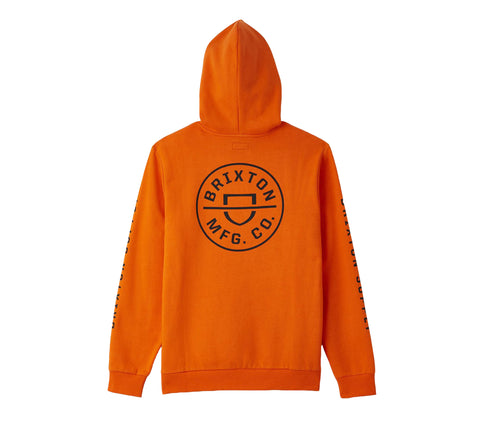 Brixton Crest Hooded Sweatshirt - Carrot