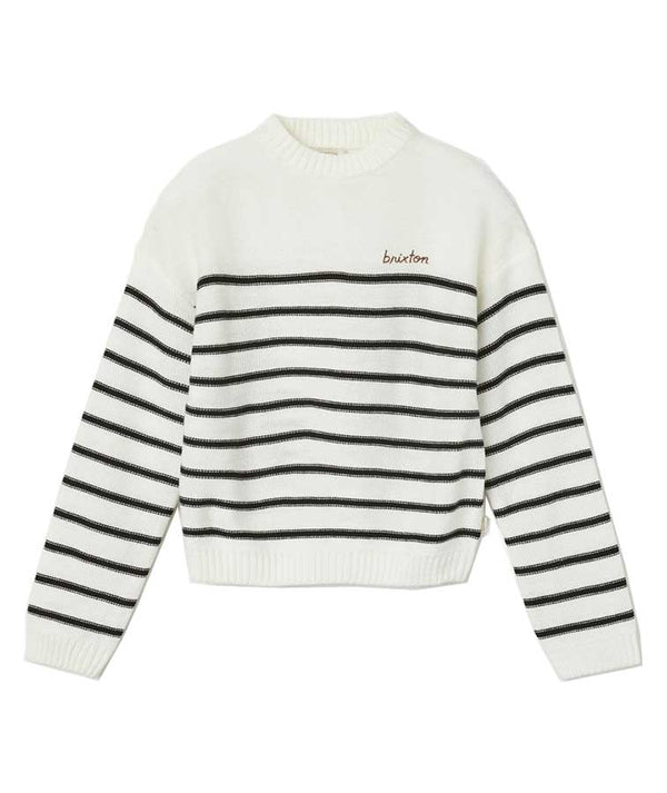 Brixton Womens Hilt Sweater White