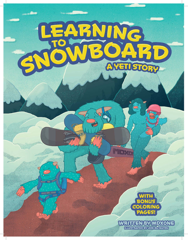 Mdxone Learning to Snowboard Book