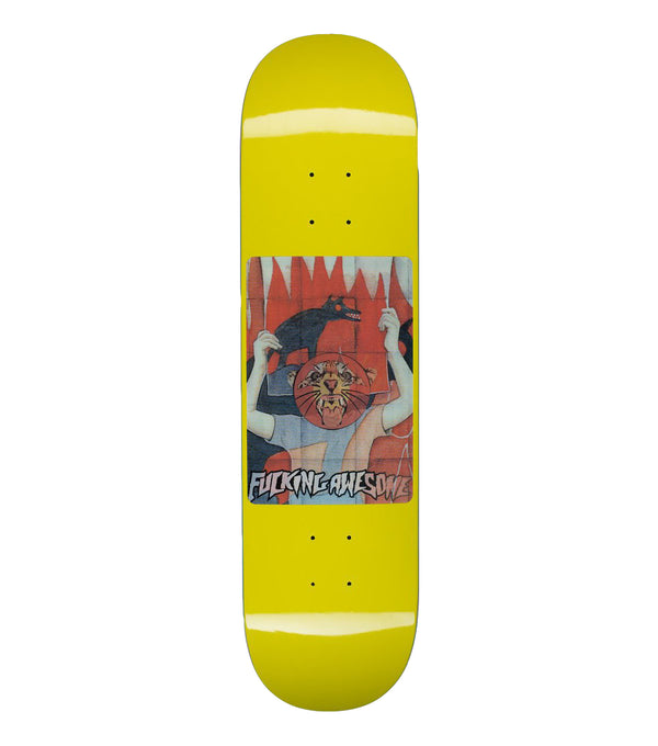 Fucking Awesome Tiger Holographic Yellow Deck - 8.00