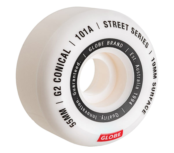 Globe G2 Conical Street Wheel White 55mm