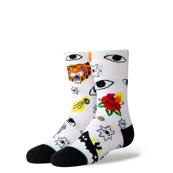 Stance Youth R Cavolo Stars White