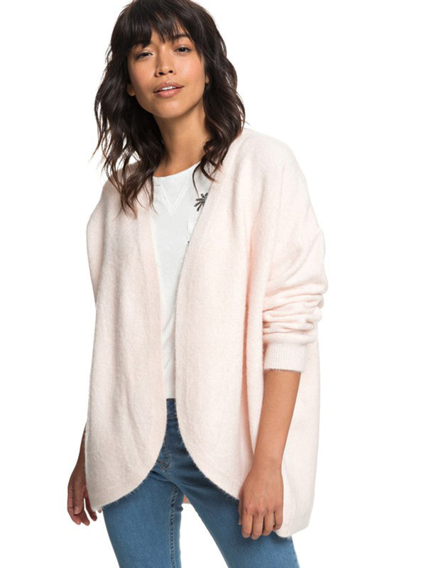 Roxy Women's Delicate Mind Cardigan Cloud Pink