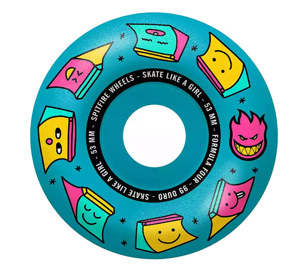 Spitfire Skate Like A Girl F4 Radial Blue 99A 53mm