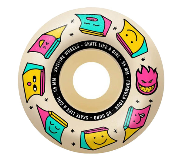 Spitfire Skate Like A Girl F4 Radial Natural 99A 56mm