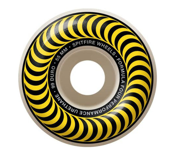 Spitfire Wheels F4 Classic Yelllow 99A 55mm