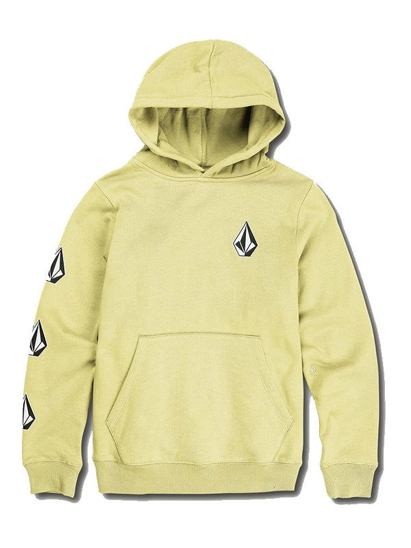 Volcom Youth Deadly Stone Pullover Hoodie Lime