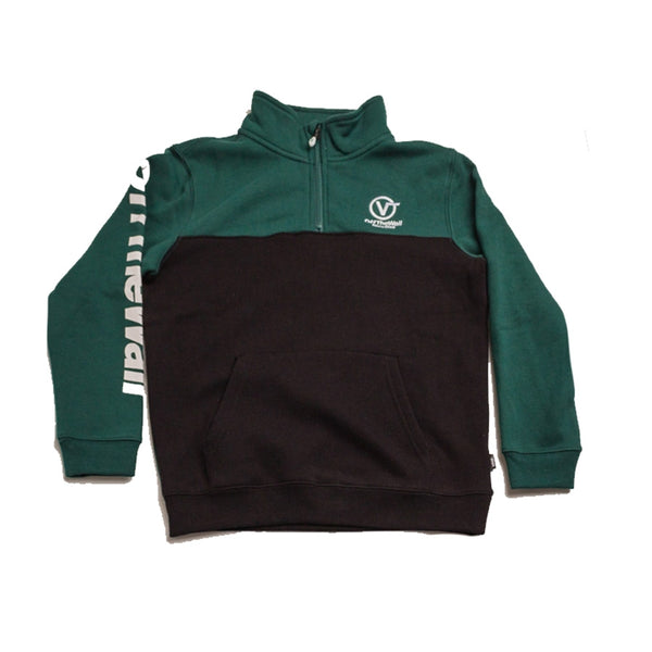 Vans Youth Distorted Performance Quarter Zip Green Black