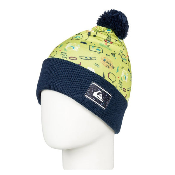 Quiksilver 2019 Toddlers' Moam Beanie Lime Green