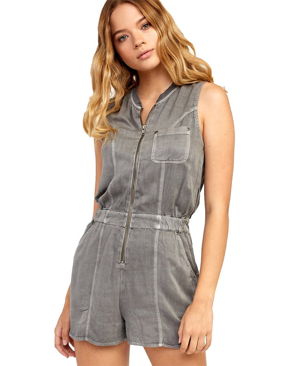 RVCA W Hitched Romper Grey Mist