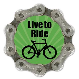 Resource Revival Recycled Magnet - Live to Ride