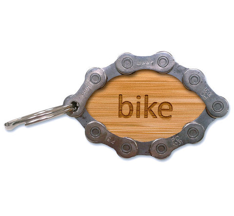Eco-friendly Recycled Bike Chain Keychain