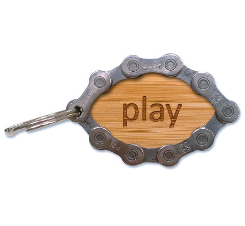 Resource Revival Eco-Friendly Recycled Bike Chain Keychain