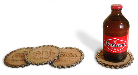 Resource Revival custom engraved eco-friendly coasters