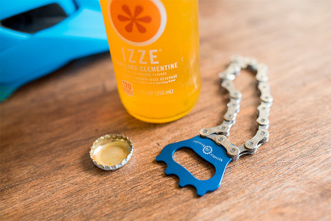 Unique handmade eco-friendly bike chain bottle opener