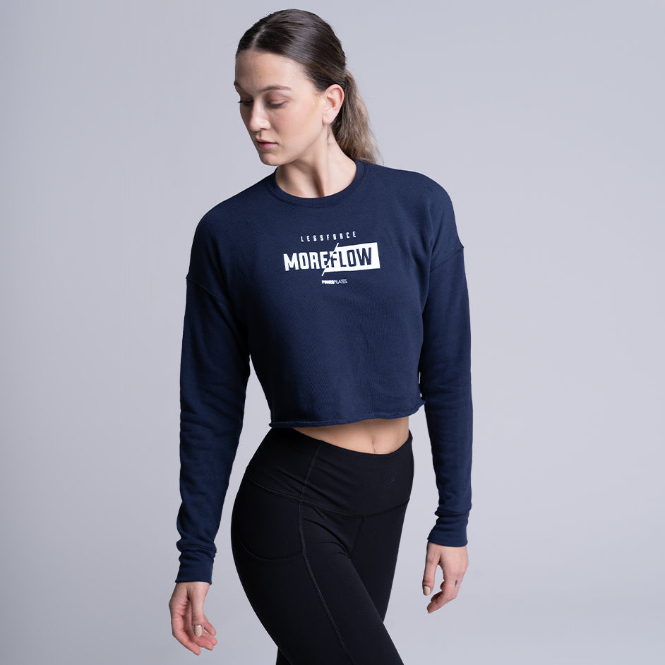 Load image into Gallery viewer, Less Force More Flow Crop Sweatshirt