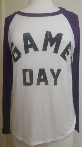 Purple game day tee