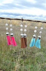Suede Pearl Earrings
