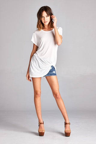 Knotted tee ivory