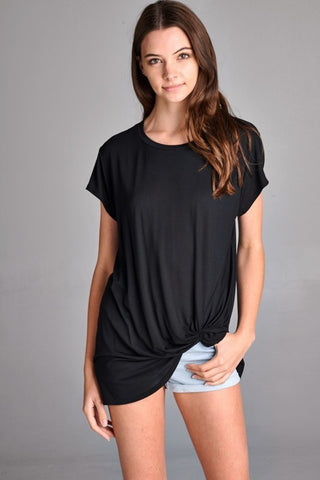 Knotted tee black