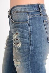 Kan can ripped boyfriend jean