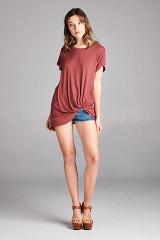 Knotted tee rust