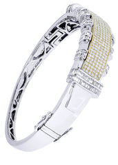 Mens Diamond Bracelet White Gold| 4.48 Carats| 35.3 Grams