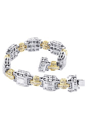 Mens Diamond Bracelet White Gold| 4.35 Carats| 43.05 Grams