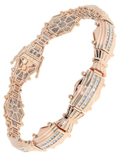 Mens Diamond Bracelet Rose Gold| 1.83 Carats| 30.81 Grams